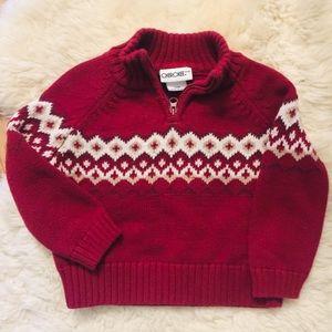 Cherokee Red Half Zip Sweater 18M